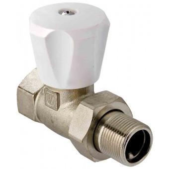 """Клапан для радиатора регулировочный прямой 1/2"""" компактный"""