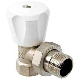 """Клапан для радиатора регулировочный угловой 1/2"""" компактный"""