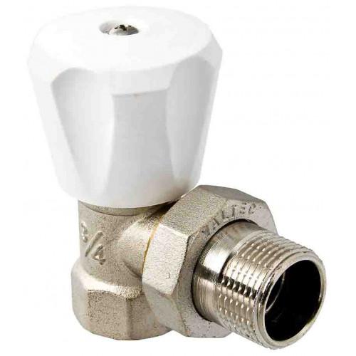 """VALTEC Клапан для радиатора регулировочный угловой 1/2"""" компактный"""