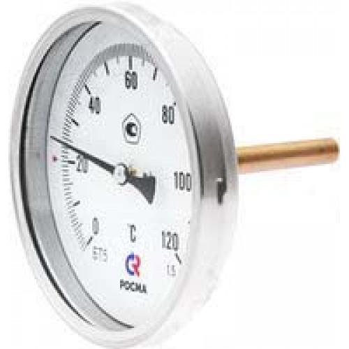 РОСМА Термометр БТ-31.211 (0 - 100°С) 63 мм, задн. подкл. G1/2, шток 46 мм, класс 2.5