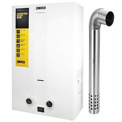 ZANUSSI Колонка газовая GWH 10 Fonte Turbo (дымоход не входит в стоимость)